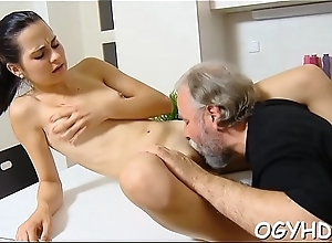 Old chap fucks young moist pussy