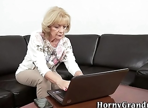 Ancient granny gets fuck