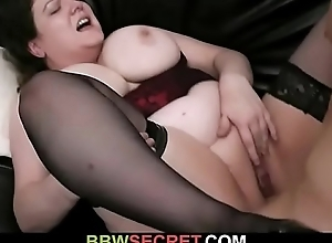Chubby bitch breaks up a couple