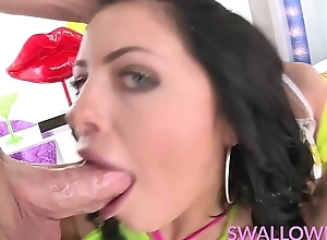 SWALLOWED Adriana, Jynx and Megan share the sloppy blow job
