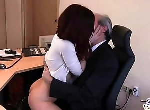 Old Young Porn My Sister Drilled Her Boss in the office and swallowed cum