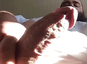 Sun Soaked Cock In Morning Cumshot