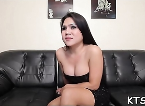 Hardcore fuck for a cute sheboy