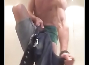 idiot bald british dancing and he thinks his cock s big