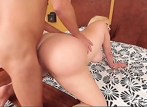 Gaping ass of a t-girl in action
