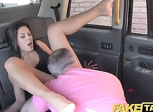 Fake Taxi John makes guys gf squirt and cums on her element
