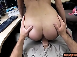 Coed with glasses gets boned by pawn man