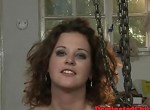 Submissive slave pissed on and chagrined