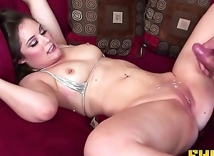 Fhuta - Charlotte gets a big load on will not hear of pierced clit.