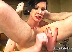 Trannie unleashed and anal fucked waiting upon
