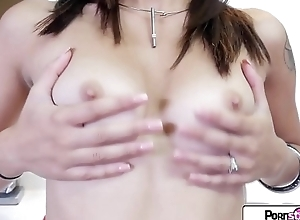 Watch Sophia Grace stripping down and play with their way wet tight pussy