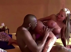 German Pornstar Sexy Cora Win Anal Fuck at the end of one's tether Black Boy